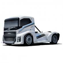 HOBAO HYPER EPX 1/10 CAB TRUCKROLLER W/PEARL WHITE BODY