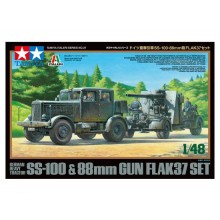 Tamiya 1/48 Ss-100 + 88mm Flak 37 Set