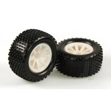 Tyres Mounted White Wheel Pair (Dominus TR)