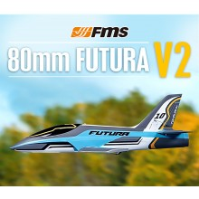 FMS 1060MM FUTURA 80MM EDF JET V2 ARTF With out Tx/Rx/Battery - BLUE