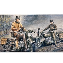 US MOTORCYCLES WW2 D DAY (1/35 MILITARY)