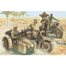 WWII GERMAN MOTORCYCLES (1/72 FIGURES)