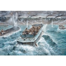 LCVP WITH US INFANTRY D DAY (1/35 MILITARY)