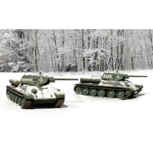 T34/76 M42(2 FAST ASSEMBLY MODELS) (1/72 FIGURES)