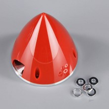 89mm Red Spinner (with Aluminium Back Plate)