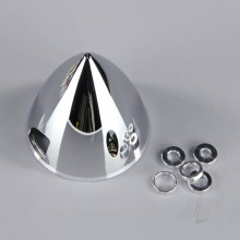 51mm Chrome Look Spinner (with Aluminium Back Plate)