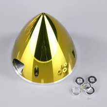 82mm Chrome Yellow Spinner (with Aluminium Back Plate)
