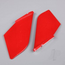 Vertical Fin Set Red (Painted with decal) (F-38)