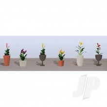 JTT 95572 Assorted Potted Flower Plants 4 O-Scale (6 pack)