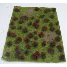 JTT 95604 Flowering Meadow Red 5 Inch x 7 Inch Sheet