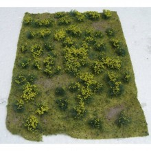 JTT 95605 Flowering Meadow Yellow 5 Inch x 7 Inch Sheet