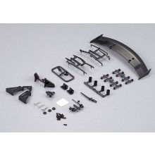 KILLERBODY 1/10 TC BASIC PLASTIC PARTS (BLACK FINISH)