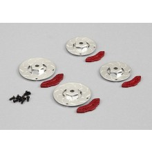 KILLERBODY CALIPER BRAKE DISC SILVER/RED 4PC (CNC ALUMINUM)