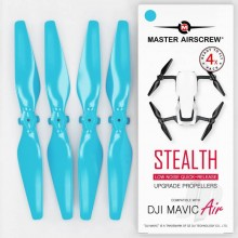 5.3x3.3 DJI Mavic Air STEALTH Upgrade Propeller Set 4x Blue