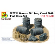 Classy Hobby 1/16 WWII German 20L Jerry Can & 200L Fuel Drum Set