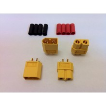 XT60 Connector Set w/HS 2 pairs