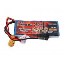 Li-Po 2S 7.4V 1400mAh Rx with JR