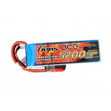 Li-Po 3S2P 11.1V 5200mAh 10C with 3.5mm
