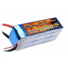 Li-Po 6S 22.2V 2600mAh 45C with EC5