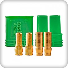 Castle 4mm Polarized Bullet Connector 1pr
