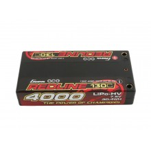 Li-Po HV Car Hard Case 2S 7.6V 4000mAh 130C RL Short 4mm