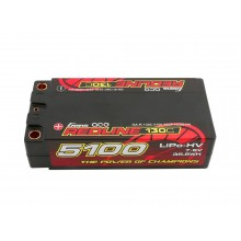 Li-Po HV Car Hard Case 2S2P 7.6V 5100mAh 130C RL Short 5mm