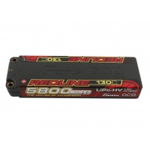 Li-Po HV Car Hard Case 2S 7.6V 5800mAh 130C RL with 5mm