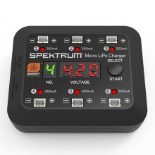 Spektrum Micro 6 Port DC/USB 1S LiPo Charger