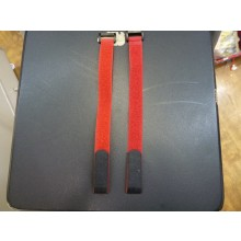 20 x 300mm (Velcro) Hook & Loop Battery Strap (Red) 2pcs