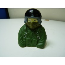 1:7  bust Jet pilots  Fully Painted In Green Suit (No Mask Hose)