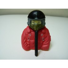 1:7  bust Jet pilots  Fully Painted In Orange Suit With Mask Hose