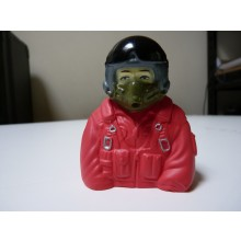 1:7 bust Jet pilots Fully Painted In Orange Suit (No Mask Hose)