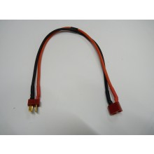 T plug / Deans male & female extension wire cable 14AWG 30cm