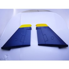 TOP GUN PARK-FLITE F/A18-C HORNET VERTICAL TAIL SET BLUE