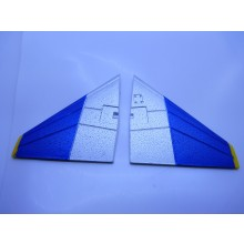 TOP GUN PARK-FLITE F-4E TAIL WING SET  (BLUE/YELL)