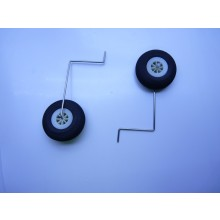 TOP GUN PARK-FLITE TB20 EP REAR LANDING GEAR 50mm foam wheels