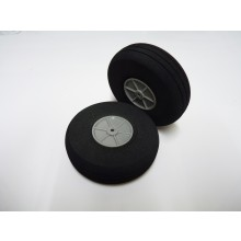 Foam Treaded Wheels with plastic hub 80x24 Pair