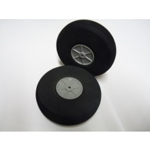 Foam Treaded Wheels with plastic hub 125x32 Pair