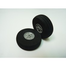 Foam Treaded Wheels with plastic hub 60 x 19 Pair