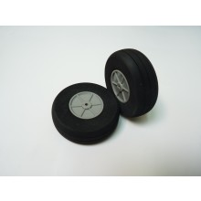 Foam Treaded Wheels with plastic hub 75 x 18 Pair