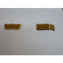 Gold Bullet Connectors 4mm 10 pairs