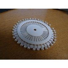 Pearl-Style Modelling Pins - Wheel of 40 Individual Pins