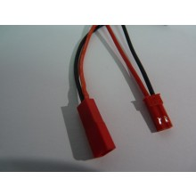 Pair of JST BEC Connectors 22awg 100mm