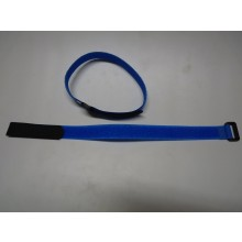 Two Velcro 400mm long 2mm wide Battery Straps Blue