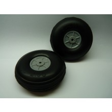 Light Weight Treaded PU Wheel 2.5 inch 62mm Pair