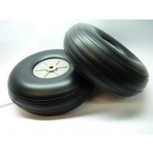 Light Weight Treaded PU Wheel 5 Inch 125mm Pair