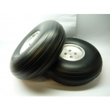 Light Weight Treaded PU Wheel w/Al hub 121g 5 Inch 127mm Pair