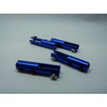 Miracle RC Metal Clevis for 2mm Push Rod Blue 4 pcs
