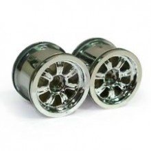 Thunder Tiger Chrome Plated Front Wheels ZK Pair