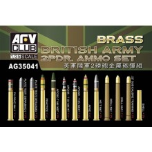 British Army 2-pdr Brass Ammo Set 1:35